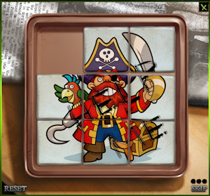Completed Pirate slider puzzle